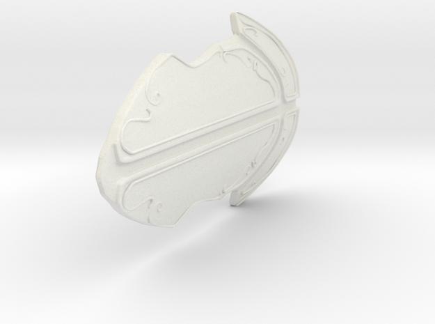 Stone Kind Fantasy Armor  in White Natural Versatile Plastic: Small