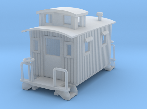 Bobber Caboose revised Z scale in Smooth Fine Detail Plastic