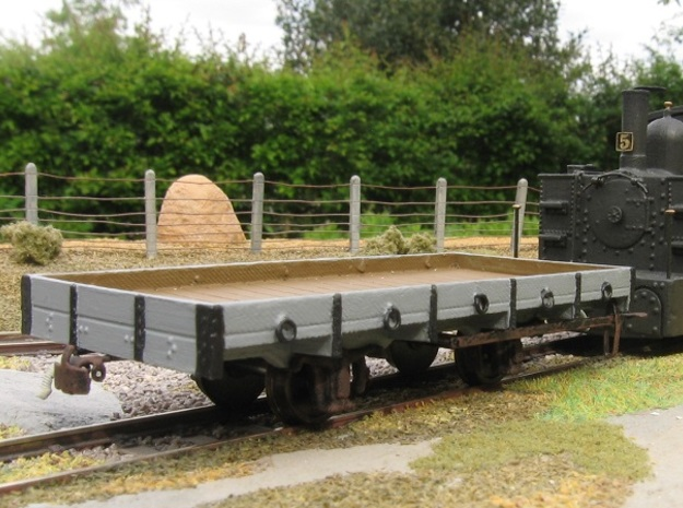 00n3 Flatbed Wagon Body in Smooth Fine Detail Plastic