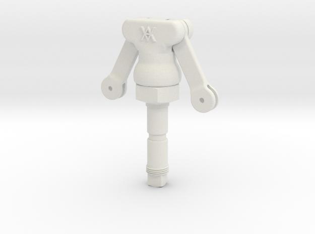 3.75 Scale K Type Release Valve in White Natural Versatile Plastic