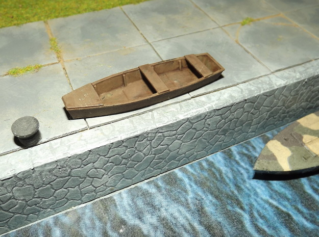 1/72nd scale Fishing boat (4 pieces) in Smooth Fine Detail Plastic
