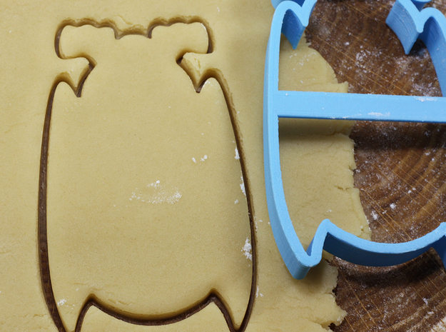 Bat 2 cookie cutter for professional in White Natural Versatile Plastic