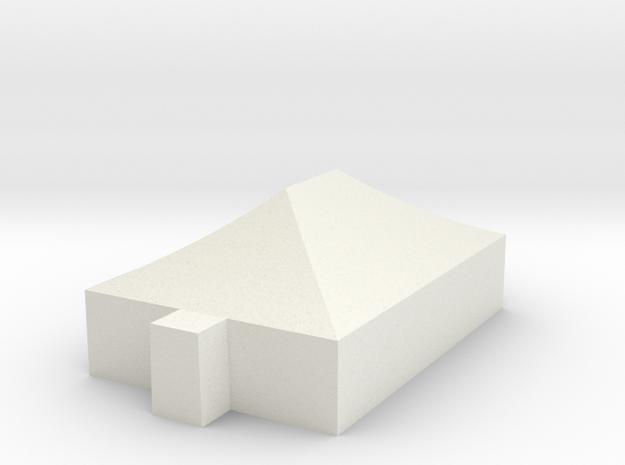 Tent 8,85m x 5,85m  1:87 scale in White Natural Versatile Plastic
