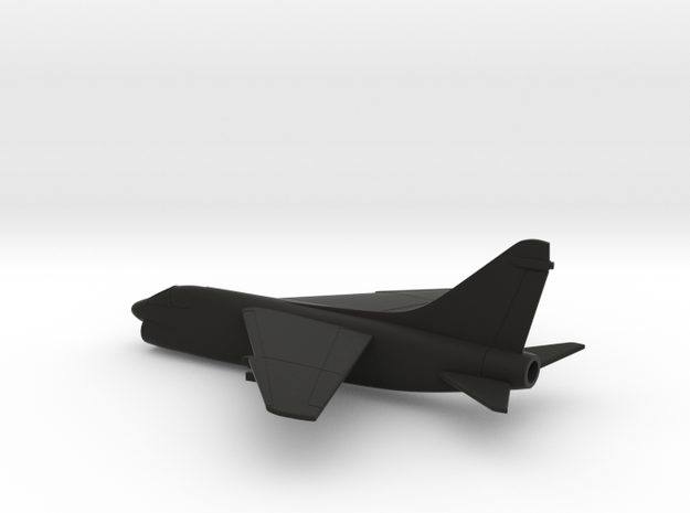 Vought LTV A-7E Corsair II (w/o landing gears) in Black Natural Versatile Plastic: 1:200