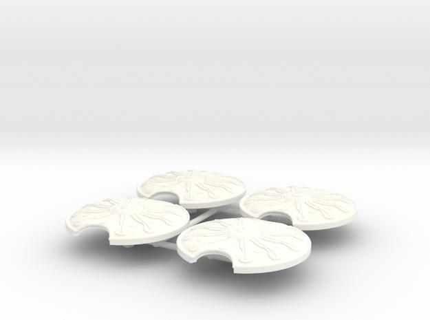 ACHILLES SHIELD x4  in White Processed Versatile Plastic
