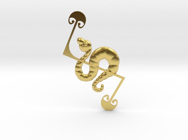 Z-Rod Serpent in Polished Brass