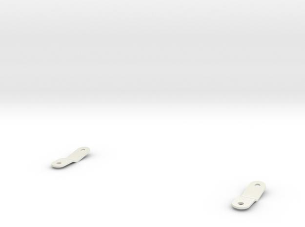 Tamiya Blazing Blazer Rear Wing Brackets in White Natural Versatile Plastic