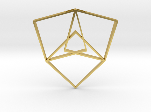 Shield of Light (Large) in Polished Brass