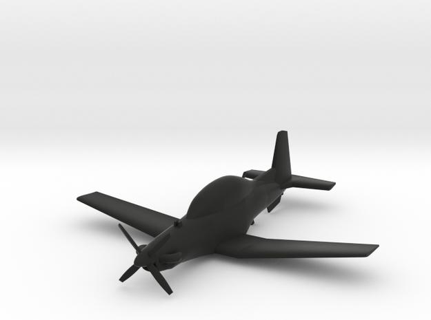 Beechcraft T-6 Texan II in Black Natural Versatile Plastic
