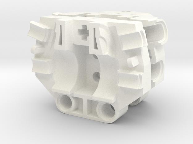G2 Metru Gearbox in White Processed Versatile Plastic