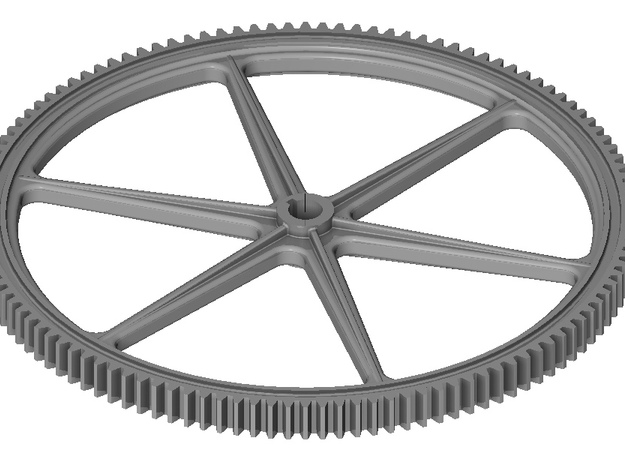 Six Spoke Gear in Smooth Fine Detail Plastic