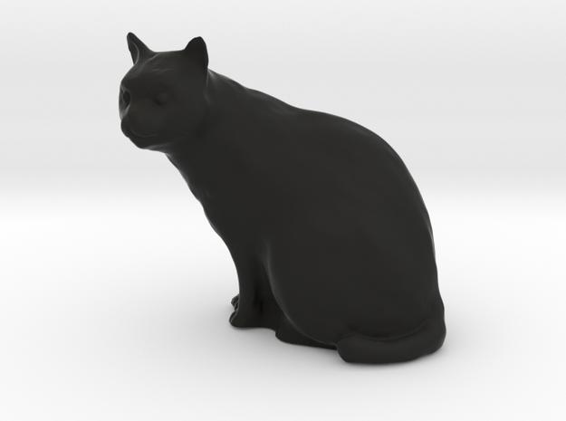 1/20 Cat Sitting in Black Natural Versatile Plastic