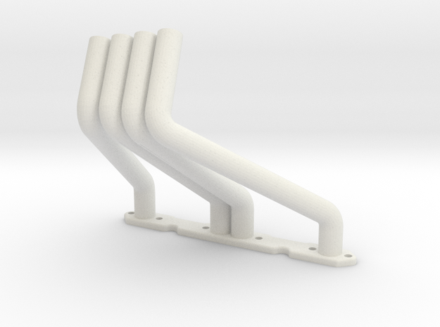 RC4WD V8 Zoomie Headers Left Side in White Natural Versatile Plastic