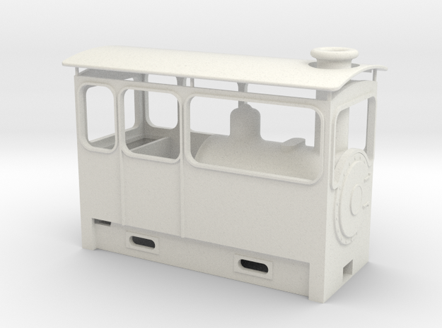 On18 Steam Tram in White Natural Versatile Plastic
