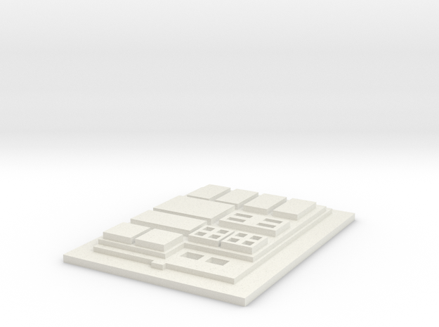 Dengar Chest Commpad in White Natural Versatile Plastic