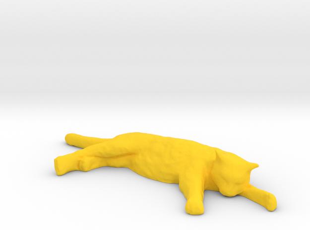 1/6 Scale Sleeping Cat in Yellow Processed Versatile Plastic