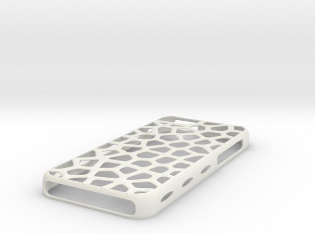 """case iphone 5c """"leopard"""" in White Natural Versatile Plastic"""