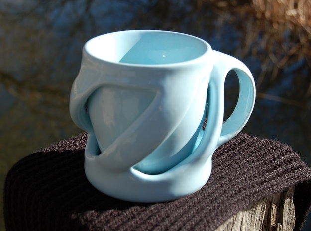 Twist of Fate Mug 3d printed