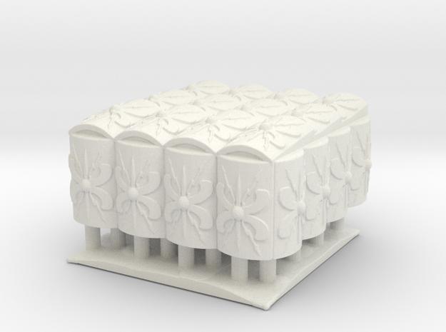 roman Testudo  4x4  1/100 in White Natural Versatile Plastic