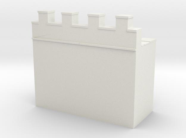 Roman hadrian's wall 1/144  in White Natural Versatile Plastic
