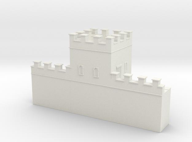 Roman hadrian's wall tower 1/144 in White Natural Versatile Plastic