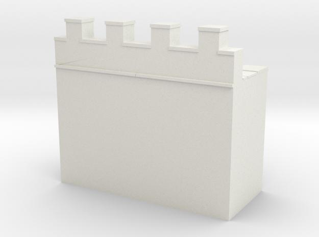 Roman hadrian's wall 1/200 in White Natural Versatile Plastic