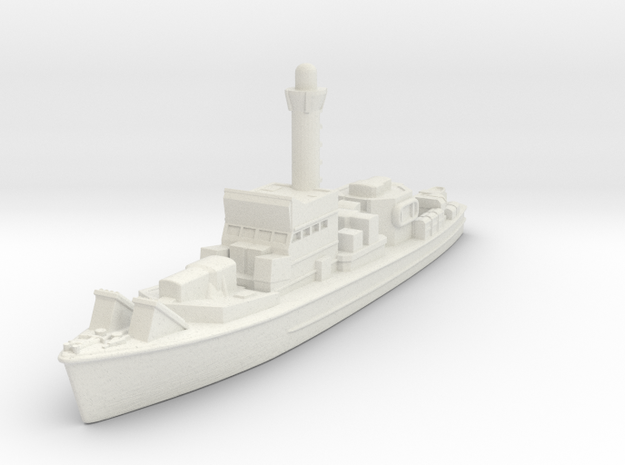 SC-497 Class Submarine Chaser in White Natural Versatile Plastic