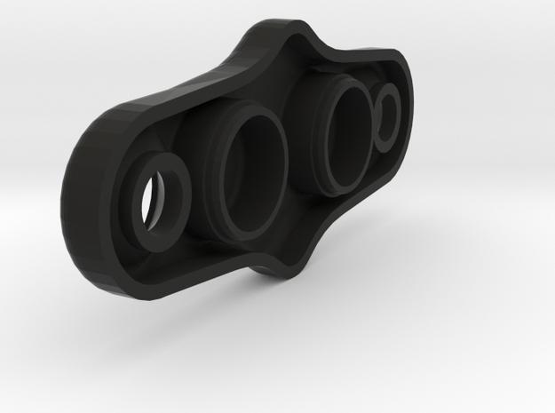 Blindabdeckung_Doppeldurchführung_V2_034 in Black Natural Versatile Plastic