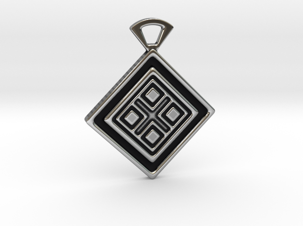 Four elements. Pendant in Antique Silver