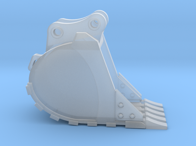 """1:50 24"""" PC138 Trench Bucket in Smooth Fine Detail Plastic"""