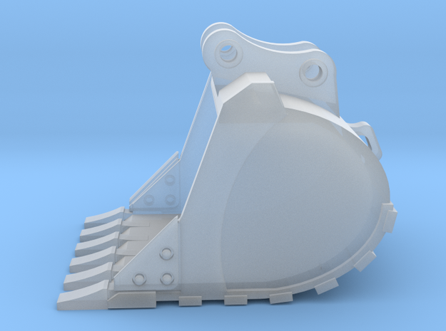 """1:50 42"""" PC138 digging bucket.  in Smooth Fine Detail Plastic"""