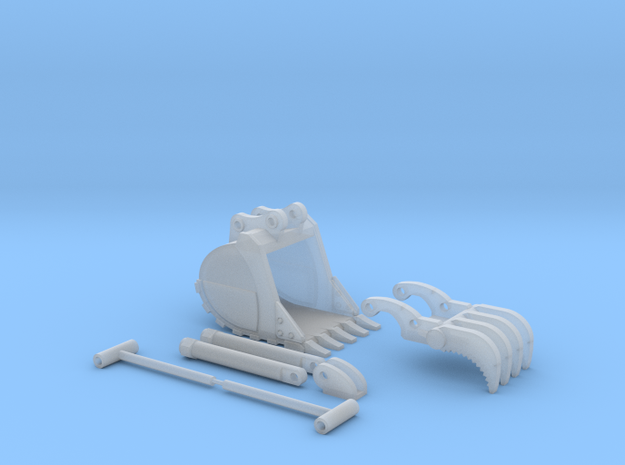 1:50 HD Bucket and Thumb set for PC138 in Smooth Fine Detail Plastic