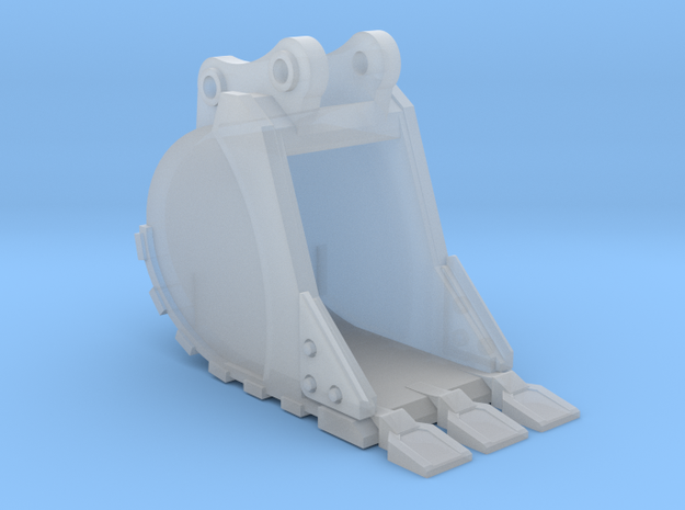 "1:50 24"" PC138 Bucket+ Spade teeth in Smooth Fine Detail Plastic"