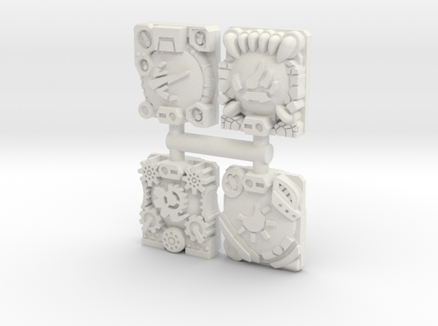 Cyber Planet Key Prime/Titan Master Plates in White Natural Versatile Plastic