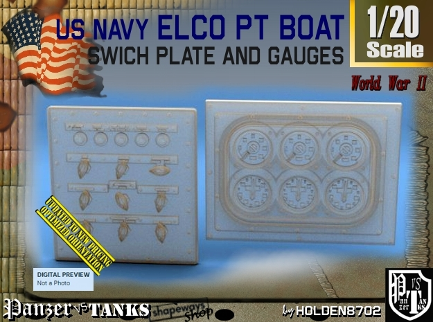 1-20 PT Boat Swich Plate And Gauges