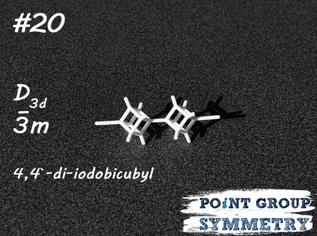 #20 D3ddi-iodobicubyl in White Natural Versatile Plastic