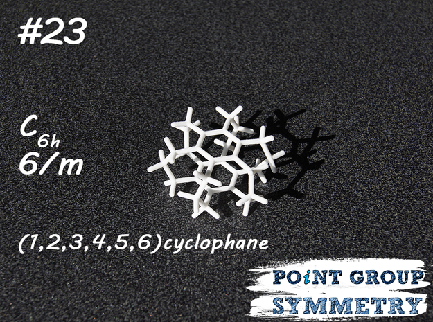 #23 C6h cyclophane in White Natural Versatile Plastic