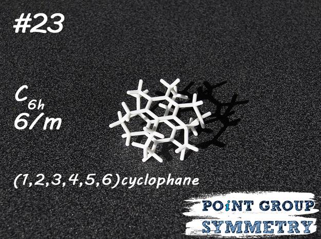 #23 C6hcyclophane in White Natural Versatile Plastic