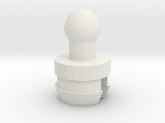 Tiny Nautical Robot Neck in White Natural Versatile Plastic