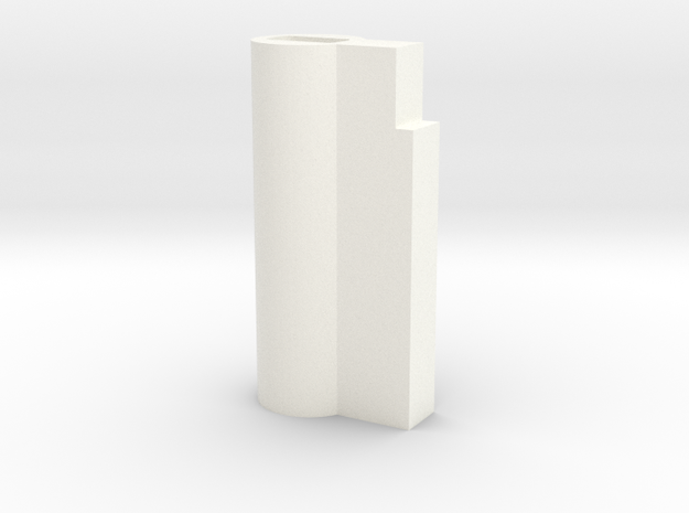 Chastity Lock Cylinder - Plastic Lock version in White Processed Versatile Plastic