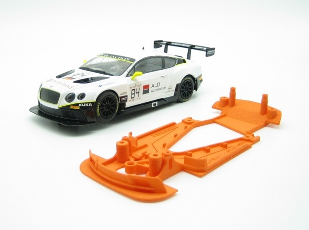 PSSX00502 Chassis for Scalextric Bntley GT3 (NSR) in Orange Processed Versatile Plastic