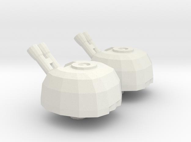 Titan Turret  in White Natural Versatile Plastic