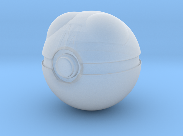 1/3rd Scale Master Pokeball in Smooth Fine Detail Plastic