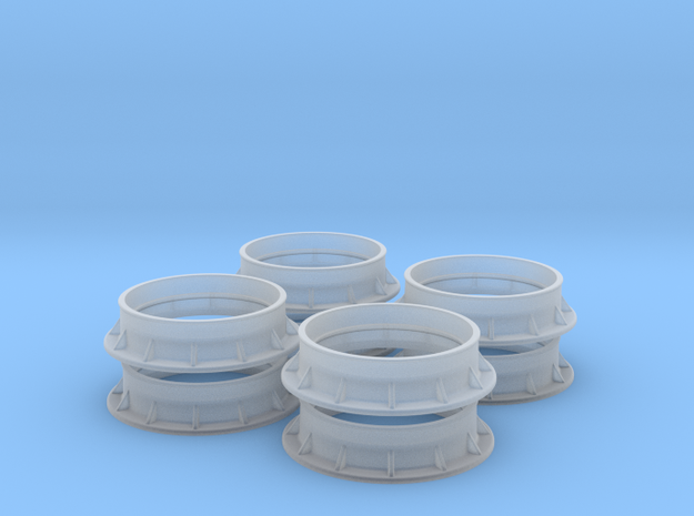 Heavy Duty Flange Set 1/32 Scale in Smooth Fine Detail Plastic