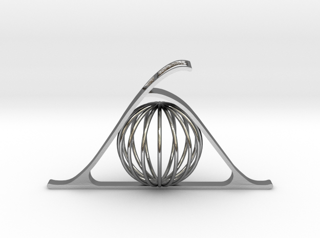 Key of Telepathy in Polished Silver