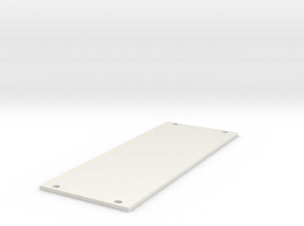 Eurorack Blank Panel 10HP in White Natural Versatile Plastic