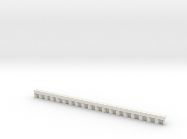 N Scale Sheet Piling Quay Wall H8 L142.5 in White Natural Versatile Plastic