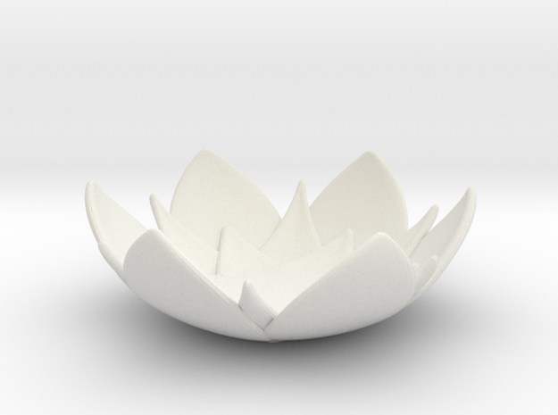 Lotus Bowl in White Natural Versatile Plastic