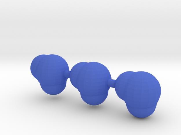 3 water molecules in Blue Processed Versatile Plastic