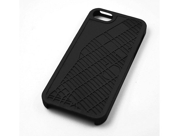 Chelsea NYC Neighborhood Map iPhone 5/5s Case in Black Natural Versatile Plastic